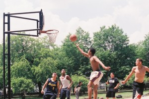 Nikon FE, June 2013, Basketball at Kilbourn Park, Graceful Layup