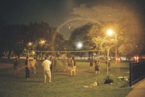 Yashica Electro GSN, Flare, Kilbourn Park, Chicago, IL Volleyball Game
