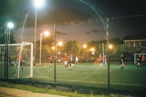 Yashica Electro GSN, Flare, Kilbourn Park Soccer Game at Night