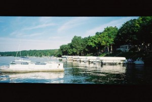 Rollei Prego 90, Panoramic - Lake Geneva, Wisconsin, Boats