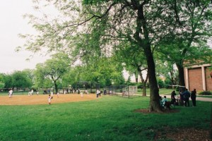 Nikon FM2, Baseball at Kilbourn Park, Chicago, IL
