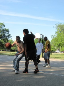 Canon SD880, June 19, 2012, Kilbourn Park, Chicago, Basketball, Driving Dribble