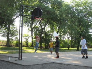 Canon SD880, June 19, 2012, Kilbourn Park Basketball, Graceful Layup