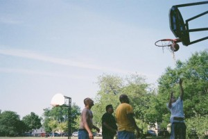 Mamiya 135 EE, June 2012, Kilbourn Park, Chicago, IL, Basketball Court
