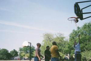 Mamiya 135 EE, June 2012, Kilbourn Park, Chicago, IL, Basketball Court
