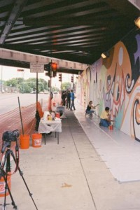 Mamiya 135 EE, June 2012, Addison Street Mural, Chicago, IL