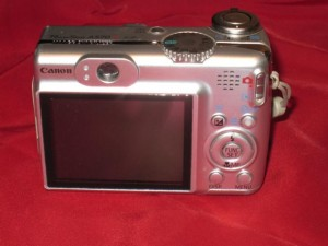 Canon PowerShot A570 Repaired Back