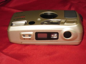 Yashica T4 Top Controls and Waist Level View Finder