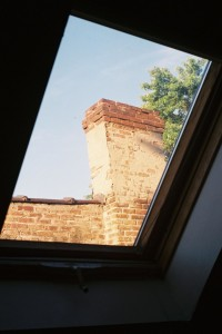 GAF L-ES, June 2013, Chimney through Skylight
