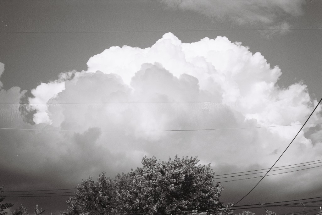 Konica C35 EF, June 2013 - Chicago Clouds and Power Lines