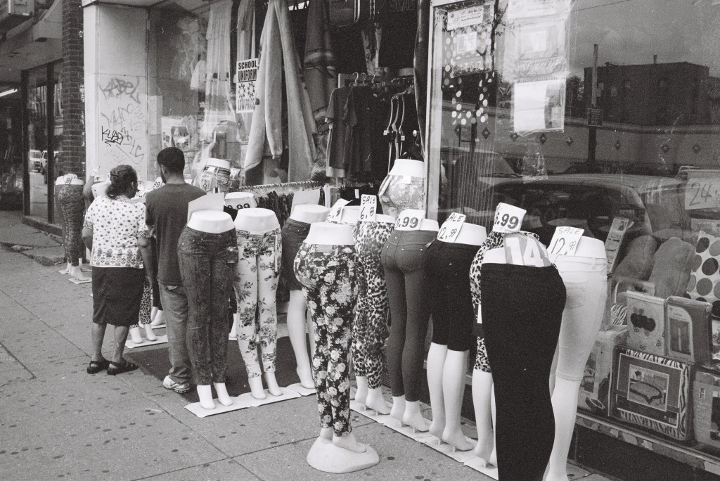 Konica C35 EF, June 2013 - Tight Ladies Pants and Shoppers