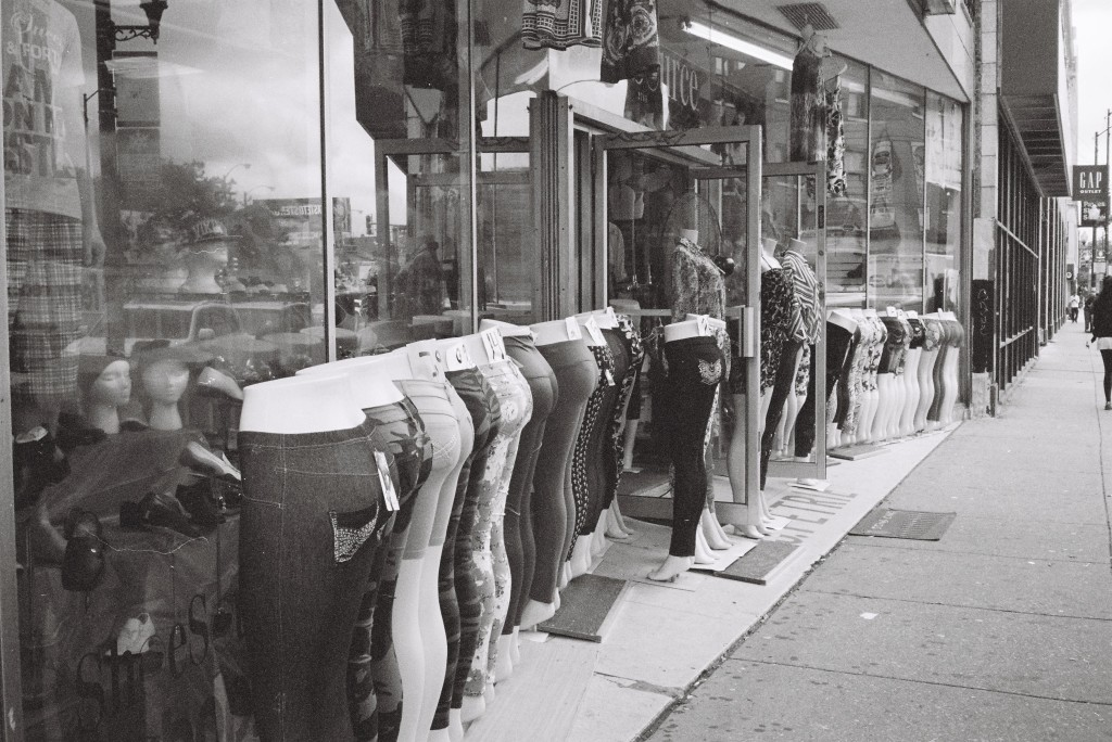 Konica C35 EF, June 2013 - Tight Ladies Pants on N. Milwaukee