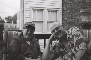 Konica C35 EF, June 2013 - Two Friends on Back Porch
