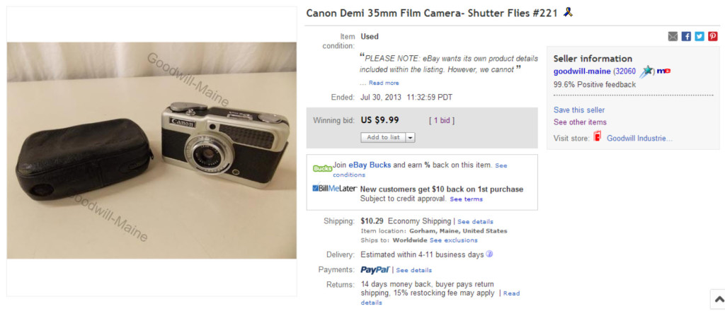 Canon Demi 35mm Film Camera