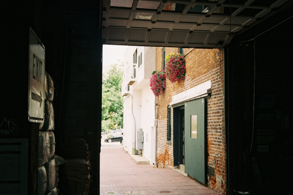 Canonet QL17, GIII, Mt. Pulaski - September 2013, Loading Dock and Flowers